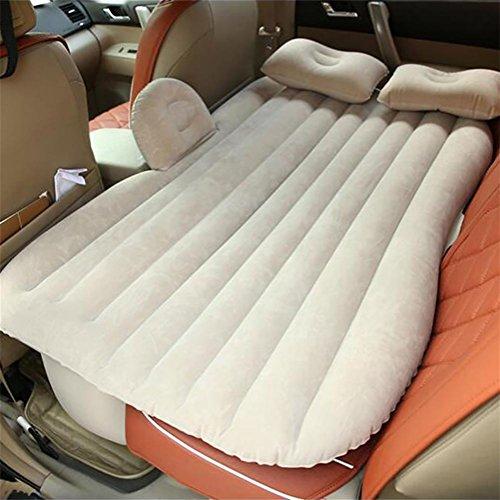 POTA RUIRUI Aufblasbares Bett Matratze Reisen hinten Auto SUV Auto schlafen Pad dick Herde Schutz, beige Flocking