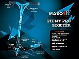 MAXOfit® Deluxe Stuntscooter Blueline bis 100 kg, sehr robust mit ABEC 9 Kugellagern, 4-fach verschraubt, 66610 -