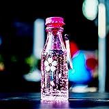 Unbreakable Sports Travel Wasserflasche Tragbare auslaufsichere Radfahren Camping Wasser Tasse 550 ML Soda-Flasche mit Lanyard - Rosa