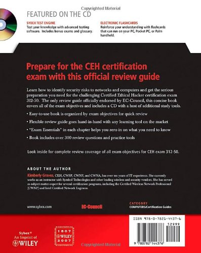 CEH: Official Certified Ethical Hacker Review Guide Book/CD Package: Exam 312-50 (Computing)