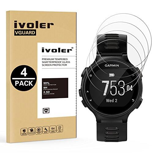 Ivoler [4 pack] pellicola vetro temperato per garmin forerunner 735xt [garanzia a vita], pellicola protettiva, protezione per schermo