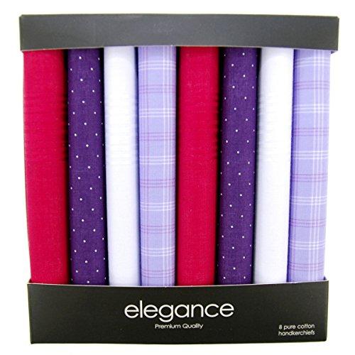Retreez Caja regalo con colección de 8 pañuelos de puro algodón para hombre - Gemischte Set A5A006