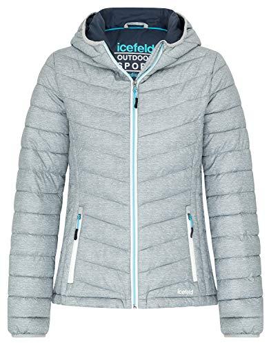 icefeld Damen Jacke/Steppjacke/Isolationsjacke, grau-meliert in XL