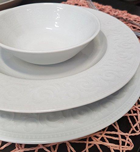 Luxus 24 tlg. Teiliges Tafelservice Kütahya Porzellan Essservice Tellerset Hochzeit Feier Verlobung Geburtstag Party Acelya - 2