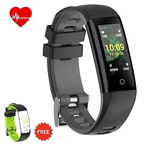 AUNEY Fitness Tracker Activity Tracker Armbanduhr Bunt UI Touch Bildschirm mit Herzfrequenz Monitor Blut Druck Sleep Monitor Wasserdicht IP67 Armband Armband f¨¹r iOS/Android