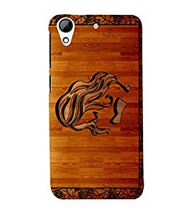 printtech Wooden Design Back Case Cover for HTC Desire 626G / HTC Desire 626G+