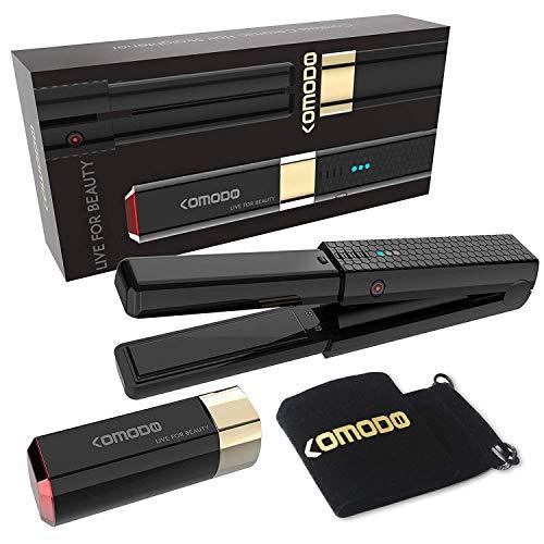 GGGDDD Alisador de cabello inalámbrico de cerámica Mini plancha plana USB recargable portátil Alisador de pelo de viaje herramienta