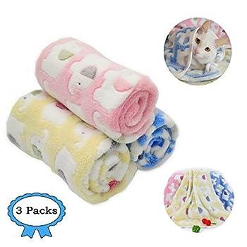 Couverture pour animal domestique en polaire - Tissu doux et mignon - 3couleurs
