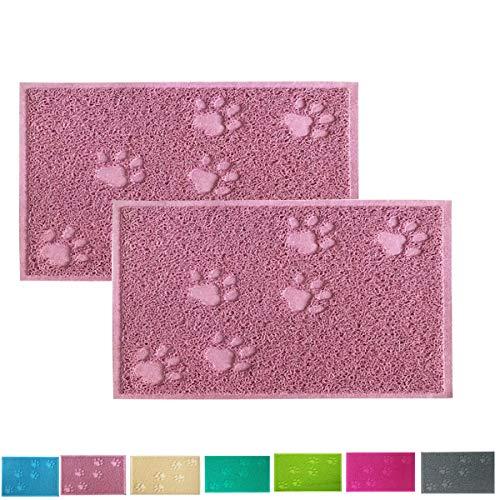 Cloud Heart Premium Haustier-Futtermatte, Pfotenform, PVC, Futternapf, Decke für Katzen und Hunde, 40 x 30 cm, 2 Stück