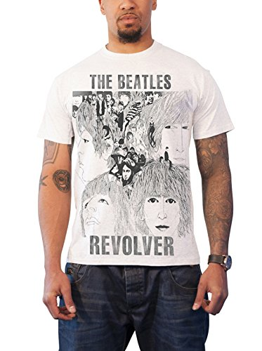The Beatles T Shirt Revolver band logo Nue offiziell Herren Slim fit sub Dye