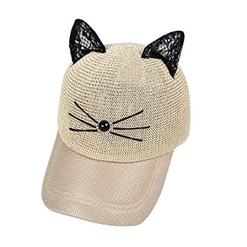 Xshuai Baseball Hat, Fashion Women Cartoon Adjustable Cat Ears Cap Mesh Baseball Sun Hats Caps