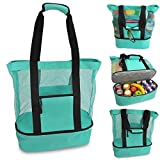 ShineBlue Große Strandtasche für Thermo-Lebensmittel und Getränke mit Kühlfach,...