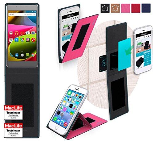 reboon Hülle für Archos 55 Cobalt+ Tasche Cover Case Bumper   Pink   Testsieger