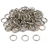 Vogholic 16mm Split Ring Fishing Lure Keychain Nickel Plated (About 100 pcs)