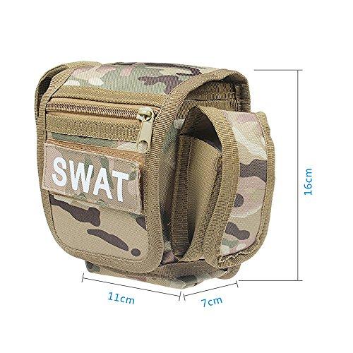 xhorizon TM FX Freiensport Nylon Militär Hüfttasche Außen Klette Mehrzweck Taktische Gürtel Gebrauchstasche Camping Wandern Reisebeutel 1-Camouflage Grün