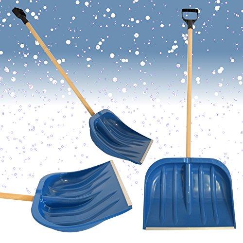 Schneeschieber Schneeschaufel Schneeräumer Schneeschippe Schaufel (Blau 49cm)