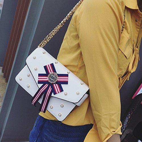 frauen-kurier-beutel-kleine paket-häschen-bowknot-dekoration-beutel Weiß