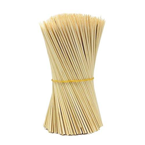 (lumanuby 90x Holz Grillspieße Marinaden Sticks, Einweg-Grill Utensilien Bambus Party Sticks, perfekt für BBQ Fleisch, Steaks vieles mehr (15cm))