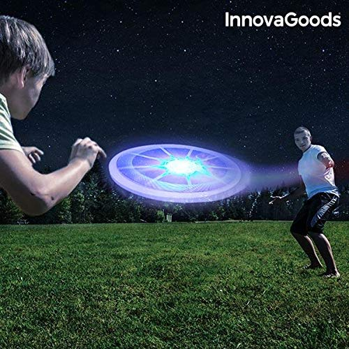 InnovaGoods ig812553Frisbee avec LED, Mixte Adulte, Multicolore, Taille Unique InnovaGoods