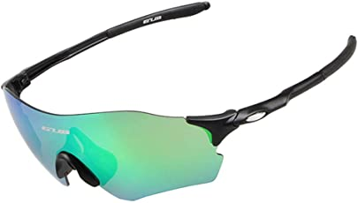 Aolvo Polarized Sports Sunglasses Men Women UV400 Protection Mtorcycle Cycling Riding Glass Eyewear Accessories for Running Fishing Driving Outdoor Activities Under Strong Sunlight