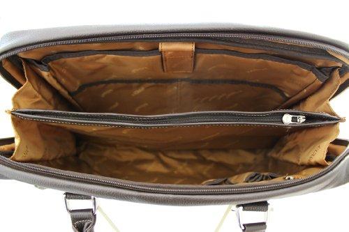 Porte-ordinateur Katana cuir grainé K 69357 Noir