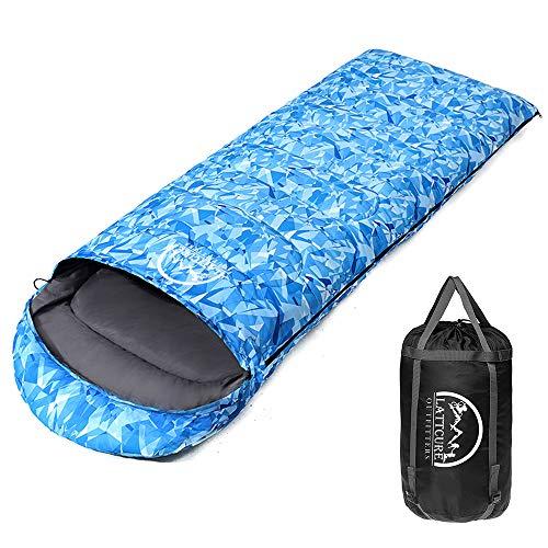 LATTCURE Outdoor Camping Deckenschlafsack Winter, Weich, Dick und Warm (Blau)