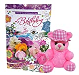 Saugat Traders Birthday Gift - Teddy with Birthday Greeting Card