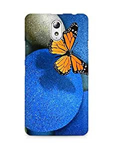 AMEZ Butterfly Pebbles Back Cover For Lenovo Vibe P1M
