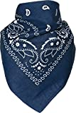 Harrys-Collection Bandana Bindetuch 100% Baumwolle 1 er 6 er oder 12 er Pack!, Farbe:marine