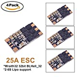 4PCS ESC 30A-35A Wraith32 32bit BLHeli_S 32 DSHOT1200 Support 2-6S Built in Current Sensor For FPV Racing Quadcopter Drone (4PCS 25A)