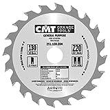 CMT 291.130.20H Lama Circolare per Taglio Lungo e Traverso Vena per Macchine Portatili, Metallo/Grigio