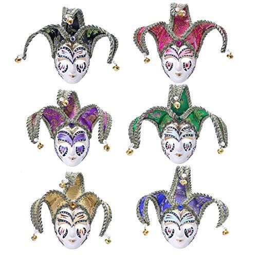 tz Luxus Dreieck Partydekorationen Venezianische Maskerade Neuheit Party Masken Perle Glocke Rand ()