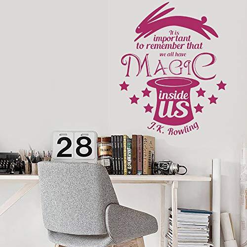 woyaofal JK Rowling Quote Adesivo murale Fai-da-Te È Importante ricordare Che Tutti Abbiamo magia Dentro di Noi Vinile Rimovibile deca71x57cm