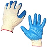 10 Pairs Latex Rubber Palm Coated String Knit Glove, Hand protection gloves for workers/Mechanical maintenance, wire work, plumbing, construction site, electricity safety