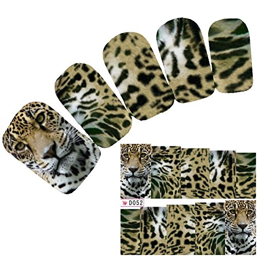 l Art Aufkleber Glitzer Löwe Leopard Lion Nagel Sticker (Lion Tattoo)