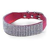Bertie Baxter's Big Time Hundehalsband, mit Strasssteinen, Größe S, Rot