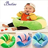 #9: Besties Toddlers'Training Soft Plush Cushion Cotton Baby Sofa Seat Dining Chair Infant Safety Car Chair Learn to Sit Stool Training Kids Support Sitting for Dining - Various Colours & Designs ( Pack Of 1 ).