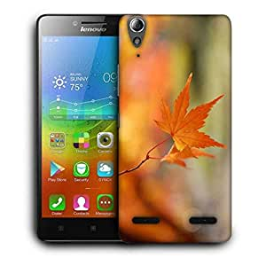 Snoogg Single Dried Leaves Printed Protective Phone Back Case Cover For Lenovo A6000