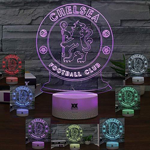 LED Chelsea Football Club 3D Lampe USB 7 Farbe Cool Glowing Basis Dekoration Tischlampe Kinder Schlafzimmer Nachtlichter -