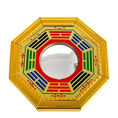 SKU:J2346 - Espejo convexo Ba Gua pulsera hilos roja