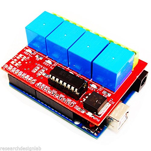 4 Channel Relay Board 12V-Compatible for Arduino 4 SPDT Relays  available at amazon for Rs.413