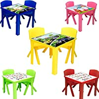 A406 Toddler Plastic Table and Chairs for Children Kids Plastic Nursery Set Outdoor indoor