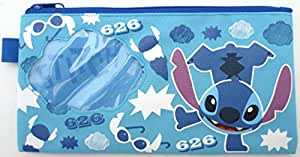Disney Lilo & Stitch Cosmetic Toiletry Stationery Pencil Lipstick Zipper Bags Case Pouch Purse Gifts for Ladies Women Girls Kids Childrens School Office Travel Christmas