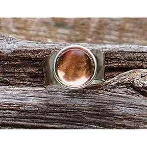 Bottled Up Designs Aufbereiteter antiker rosa Krisenglas-Glasedelstein-justierbarer Ring