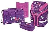 Herlitz Grundschulranzen Motion Plus Schulranzen-Set, 41 cm, Purple Butterfly