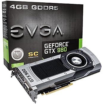 EVGA GTX980 Scheda Video 4GB SC W/BP, Nero