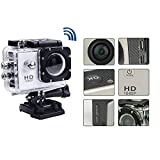 #5: Full HD 1080p Waterproof Sports Action Camera 2 inch Car DVR H.264 12 Mega Underwater 30M Video Camera 120 Degrees Wide-Angle Lens camera (White)