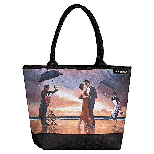 VON LILIENFELD Tasche Damen Henkeltasche Shopper Bedruckt Motiv Kunst Theo Michael: Hommage to the Singing Butler