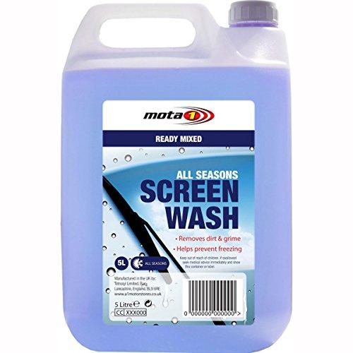 motorcycle-a1-ready-mix-screen-wash-car-lorry-van-srx005-5-litres-uk-seller