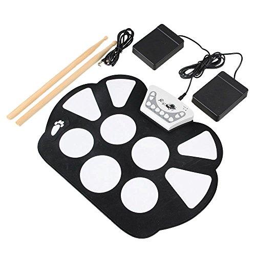 yibuy-black-portable-silicone-foldable-electronic-usb-9-pads-roll-up-drum-kit-set